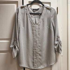 Black and White Polka Dot Blouse